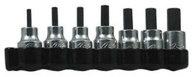 """Lisle 7 Piece SAE Hex Bit Set 3/8"""" Square Drive High Strength A Only One"""