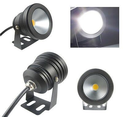 New Underwater Pond Pool Spot Light 10W 12V Warm Cool White LED Waterproof IP68