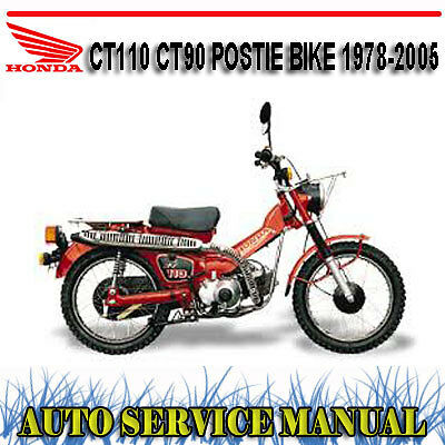 Honda Ct110 Ct90 Postie Bike 1978-2005 Workshop Service Repair Manual ~ Dvd