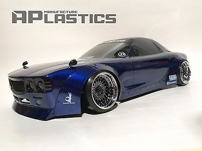 NEW Unpainted APlastics RC Drift car body 1:10 Maza RX7 FD Boss style