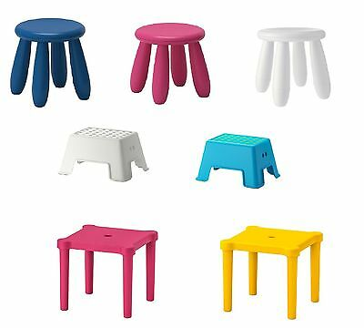 IKEA Children's Kids Stool Pink Blue White Yellow In Different Style