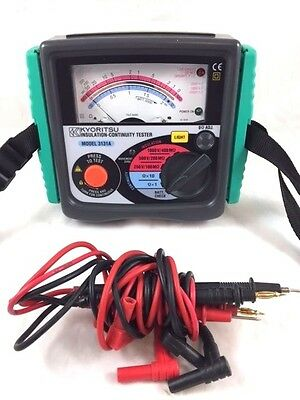 KYORITSU 3131A Analogue Insulation and Continuity Tester Meter Made in Japan