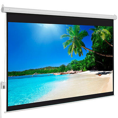 "100"" 4:3 HD 80"" x 60"" Electric Motorized Projector Screen + Remote"