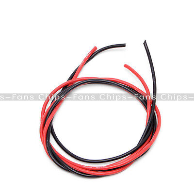 Black Red 14 AWG Silicone Wire Flexible Tinned Copper Cable for RC ESC Motor DIY