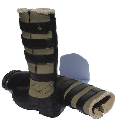 Rhinegold Nevis Winter Boots | Yard | Riding | With Adjustable Width Velcro Calf