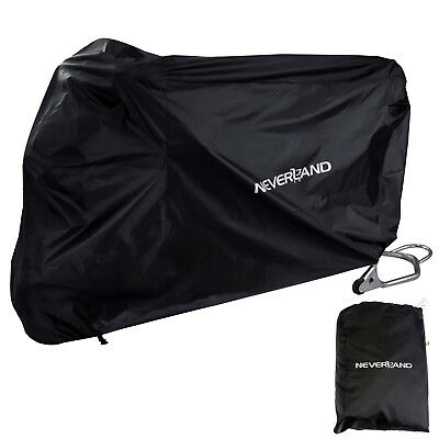 NEVERLAND Rain Waterproof Protection Motorcycle Cover Motorbike Universal Black