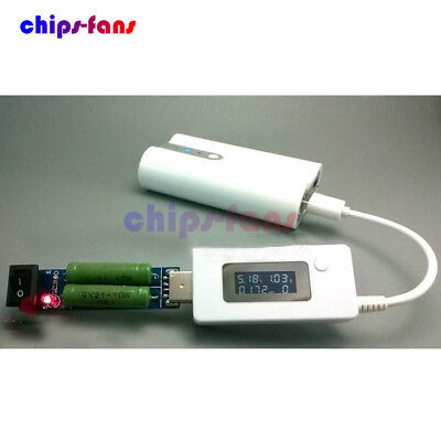 USB Load Resistors Mobile Power Module/LCD USB Voltage Current Tester Monitor UK