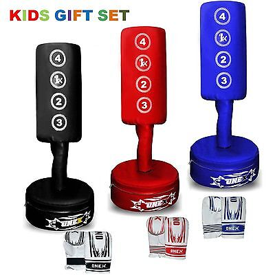 Kids Free Standing PunchingBag 3Ft Boxing Heavy DutyTraining MMA Free Kick Stand