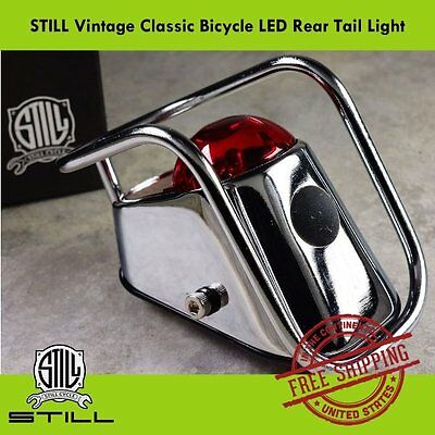 STILL Vintage Classic Bicycle LED Rear Tail Light - for Steel, City, Road Bikes