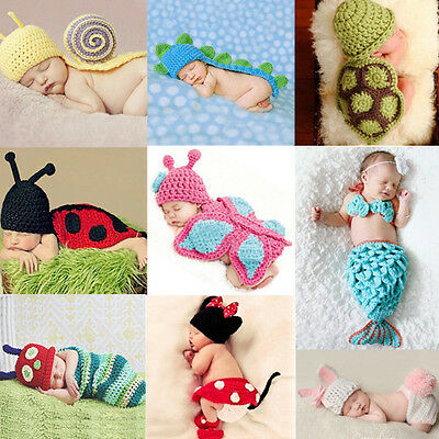 Soft Knit Photography Photo Props Newborn Costume Fancy Dress