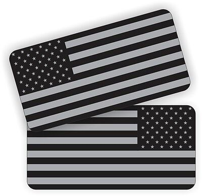 (2) American Flags Black Ops Hard Hat Stickers  Motorcycle Helmet Decals  USA