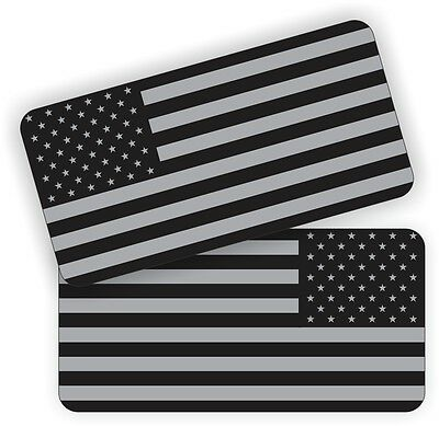 (2) American Flags Black Ops Hard Hat Stickers  Welding Helmet Decals  Welder