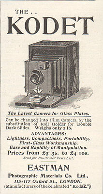1895 Print Ad Eastman Kodet Glass Plates Photo Camera