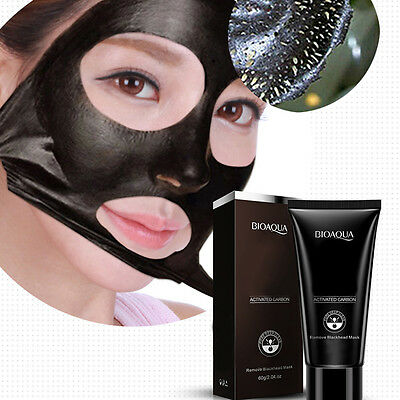 Black Mud Face Mask Blackhead Acne Remover Deep Cleansing Purifying Peel Off