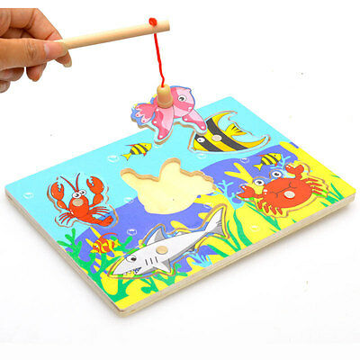 Children Educational Fishing Puzzles Baby Toys Wooden Toy For Kids Gifts