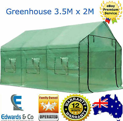 Greenhouse Cover Walk In Garden Green Hot House Plant Shed Shade PE Green House