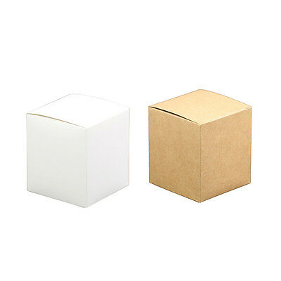 10pcs Kraft Shabby Chic Square Sweets Candy Gift Boxes Wedding Party Favor B5L