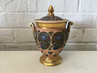 Antique French Old Paris Porcelain Sugar Dish w/ Gold & Floral Decoration