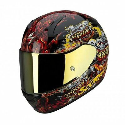 Scorpion Exo 410 Hellhound- Full Face Motorcycle Helmet -Large - L