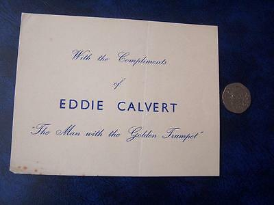 Eddie Calvert  -  Ephemera - Music Hall Theatre Film History - Compliment Slip