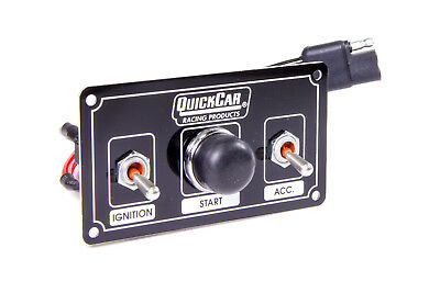 QUICKCAR RACING PRODUCTS 4-5/8 x 2-1/2 in Dash Mount Switch Panel P/N 50-820
