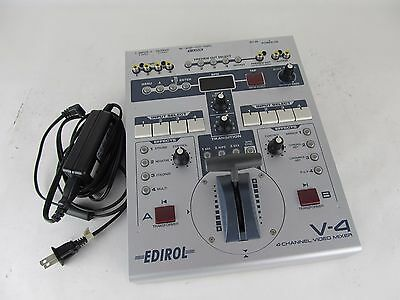Edirol V-4 4 Channel Video Mixer, Switcher w/ Power Supply #2
