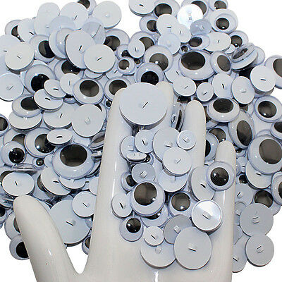 100PCS Plastic Sew on Wiggly Wobbly Googly Doll Eyes For Toy/Scrapbook