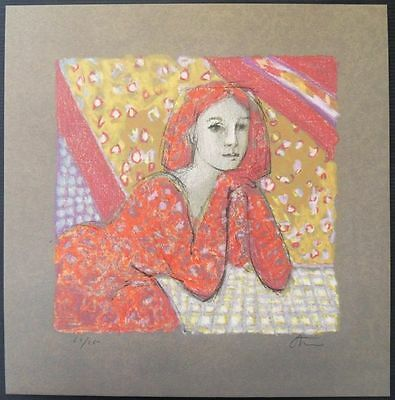 Robert Stenne (1931- ) Femme rousse pensive - LIITHOGRAPHIE originale #250ex