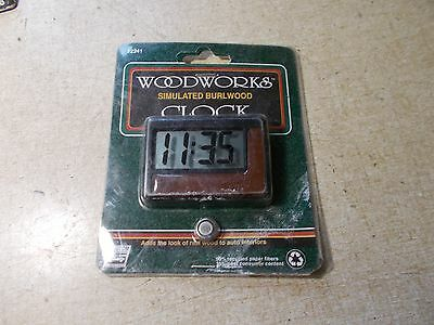 NEW Woodworks Simulated Burlwood Clock 12241  *FREE SHIPPING*