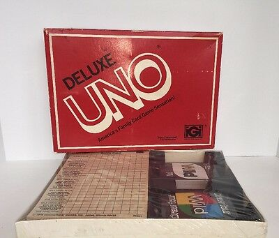 Vintage 1978 Uno Deluxe Edition Card Game - SEALED