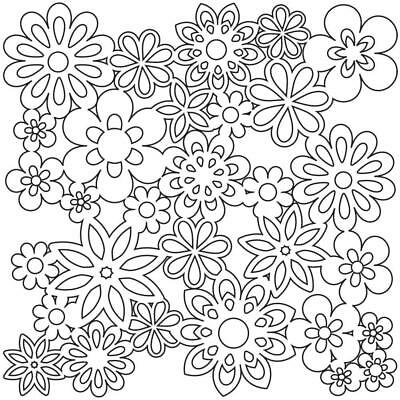 "NEW The Crafter's Workshop Stencils 12""x12"" - Flowers TCW176"