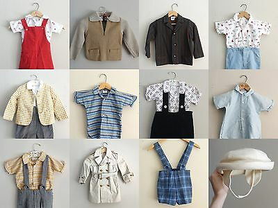 Vintage 1940s Baby Boy Clothes LOT 3T 4T Trench Coat Neiman Marcus Merry Mites