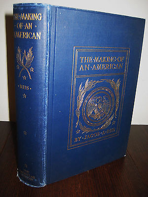 1st/6th Printing MAKING OF AN AMERICAN Jacob Riis RARE Memoir CLASSIC Antique