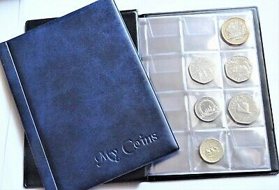 Coin Collectors Album 96 Coins Perfect for 50p Olimpic, Beatrix, BoB,old 50p RED