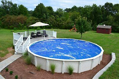24' Round Swimming Pool Solar Cover Blanket 12 Mil