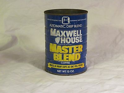 Vintage Maxwell House Coffee Can 13oz Tin Metal NO LID