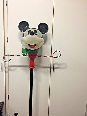 Rare Collectible Disney Mickey Mouse Head Lamp Post Blk Ears  6' Tall Lights Up