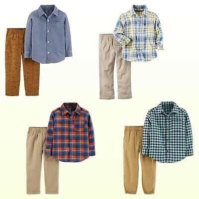 9981b75ab NWT CARTERS BABY/TODDLER Boys Button-Up Plaid/Striped/Chambray Shirt ...