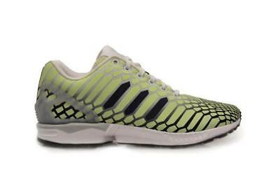 09f8f2232ec41 Mens ADIDAS ZX FLUX Light Green Textile Synthetic Trainers AQ4535