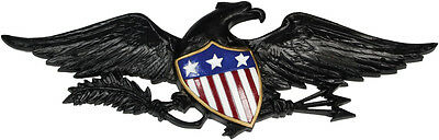 """American Eagle Wall Decoration 20"""" Hand Painted Shield Made in USA"""