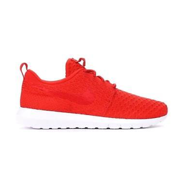 new concept d34a4 e29bf Mens NIKE ROSHE NM FLYKNIT University Red Textile Trainers 677243 603