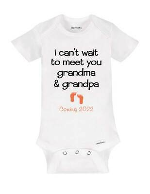 I can't wait to meet you grandma & grandpa Coming 2019 surprise baby birth preg