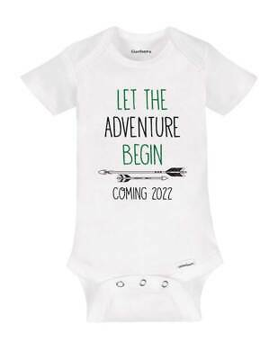 Let the Adventure Begin Coming 2019 surprise baby birth pregnancy grandparents