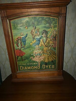 Antique  Country Store  Diamond Dyes Counter Display Cabinet  C1920's - 30's