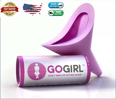 Go Girl Female Urination Device Pink Portable Travel Camping Outdoors