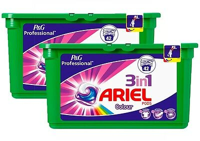 2 X 42 Pack Ariel 3 in 1 Colour Liquitabs Washing Detergent Tablets Capsules Pod
