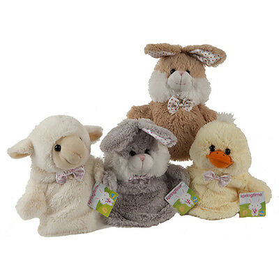 Farm Animal Plush Hand Puppets Plush Bunny Rabbit Duck Lamb Puppet Story Sack