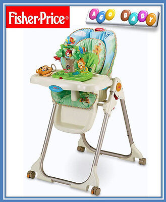 NEW Fisher Price Rainforest Healthy Care High Chair Baby Seat W Interactive Toys