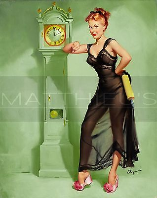 Gil Elvgren-The Honeymoon's Over, Canvas/Paper Print, Pinup Girl