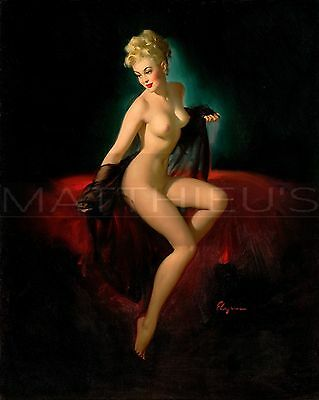 Gil Elvgren-Vision Of Beauty, Canvas/Paper Print, Pinup Girl